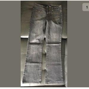 Black stretch boot cut jeans sz 5 ADD ON ITEM